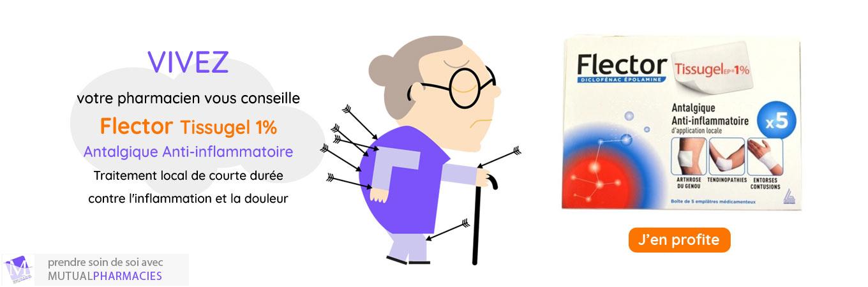 Flector tissugel : traitement de la douleur
