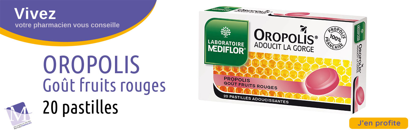 Aropolis, pastilles goût fruits rouges